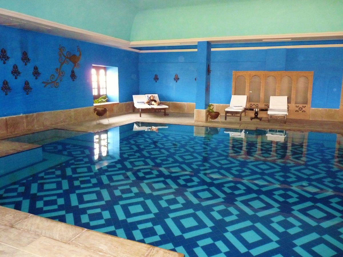 Beautifully Designed Indoor Pool At Surygarh Luxury Hotel Jaisalmer Rajasthan India A Niche