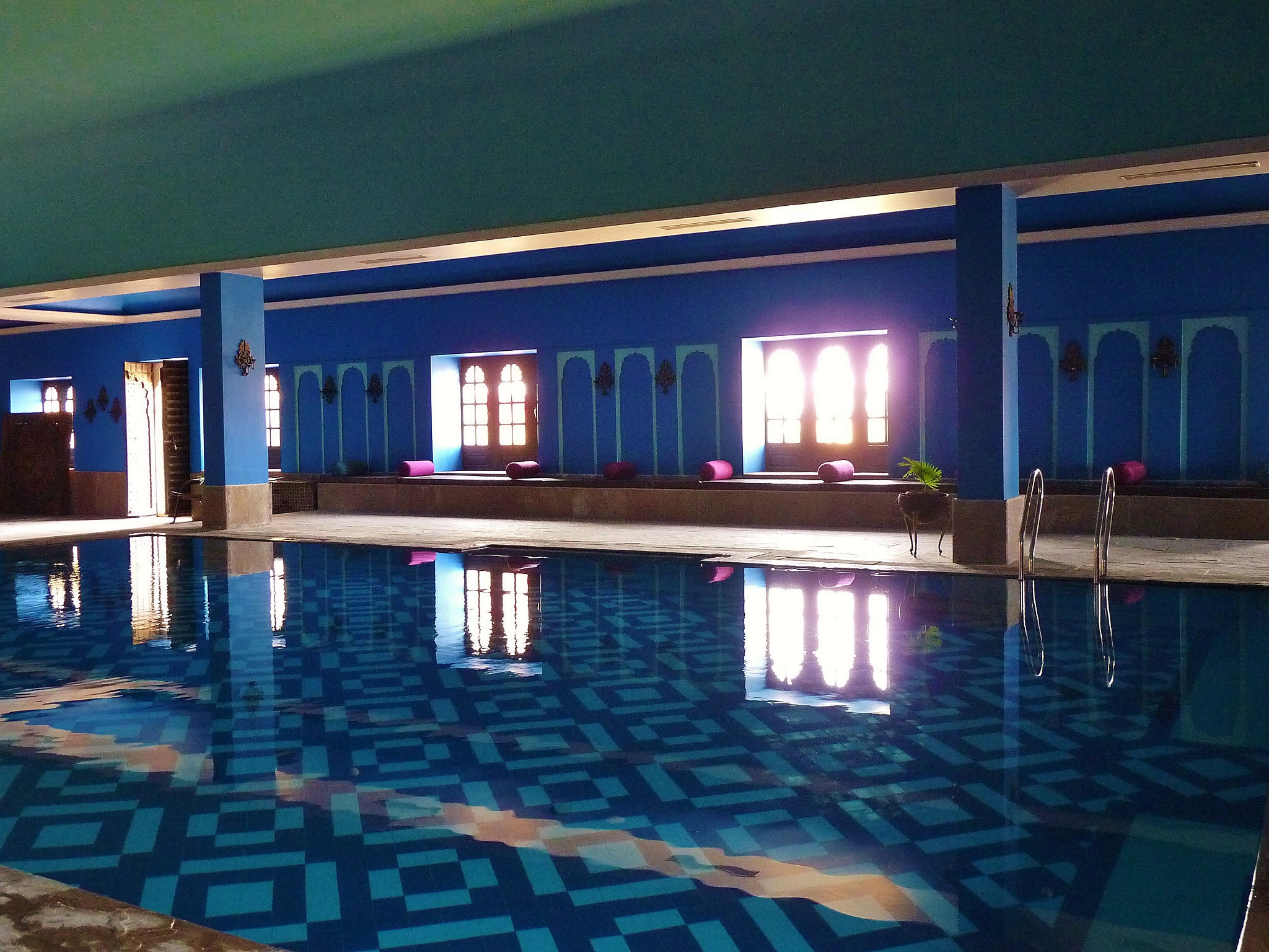 A Moment Of Calm After Hectic Sweltering Sightseeing Indoor Pool At Suryagarh Hotel Luxury