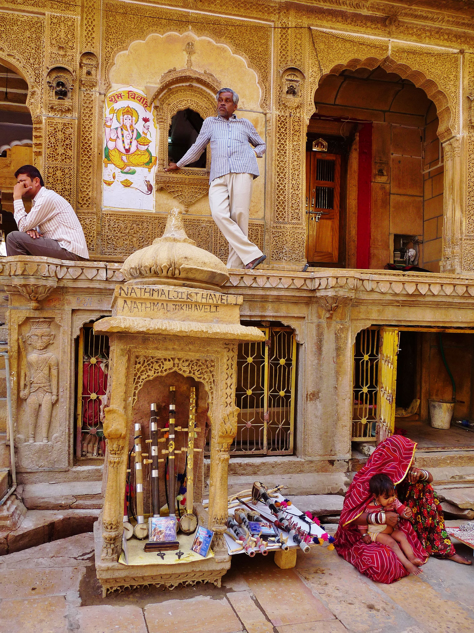 Outside Patwon Ki Haveli In Jaisalmer Rajasthan India