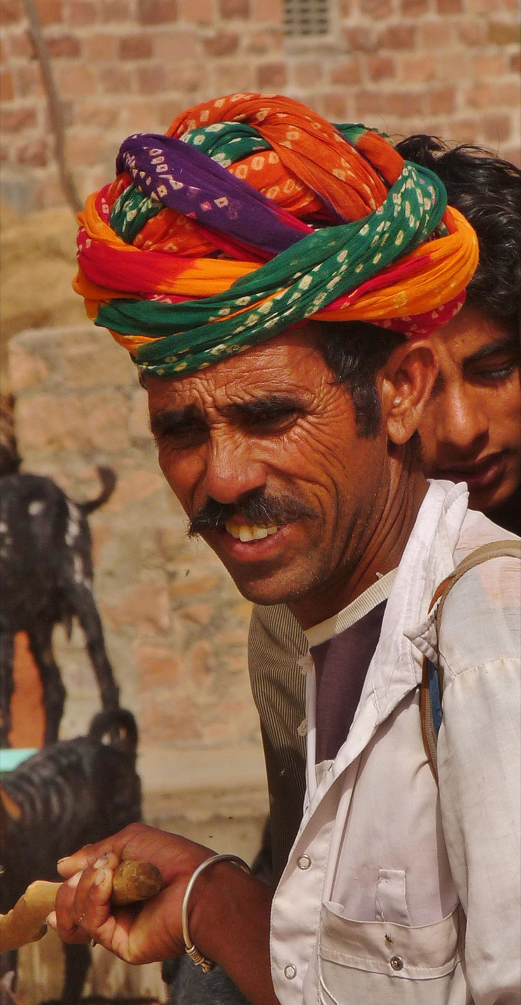 A Rajasthani Rural Farmer In Typical Rajasthan Turban