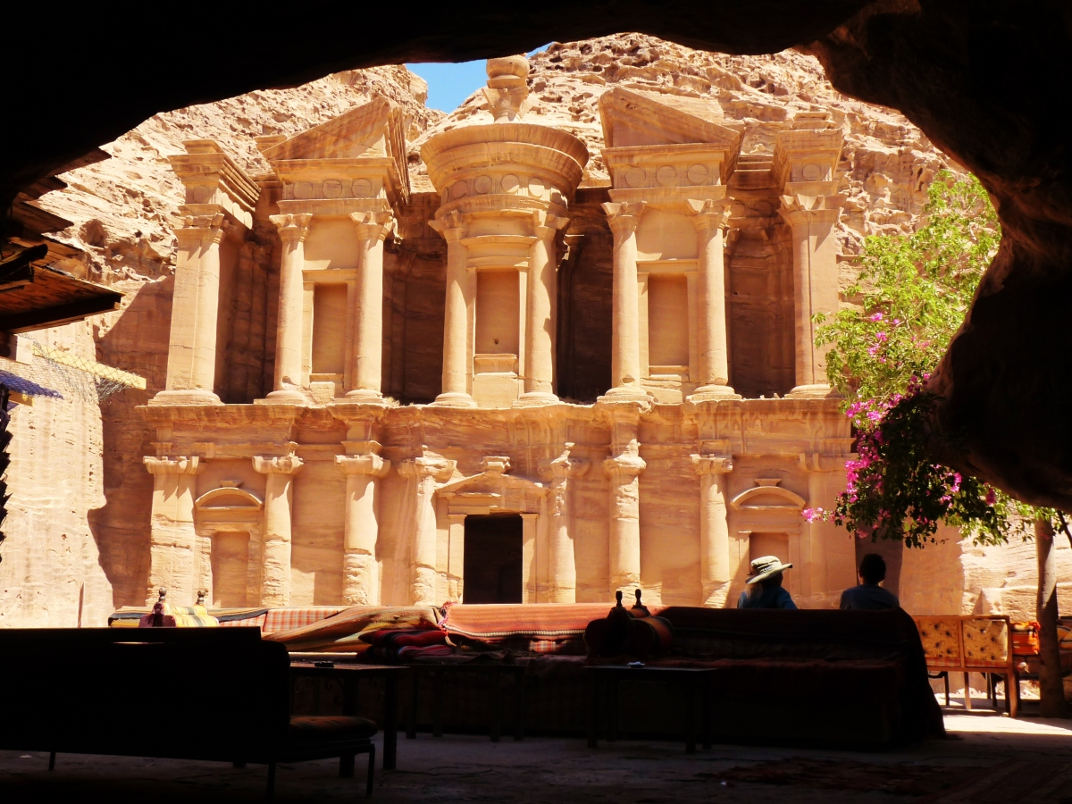 """Monastery"" ""viewpoint petra"" ""end of the world"" ""Petra"" ""Wadi Musa"" ""Jordan"" ""desert"" ""ruins"" ""UNESCO"" ""heritage"" ""archaeology"" ""excavation"" ""wonders of the world"" ""desert"" ""rose red city"" ""sandstone"" ""ruins"" ""historical"" ""sights"" ""things to see jordan"" ""architecture"" ""view"" ""wanderlust"" ""photography"" """"world travel"" ""must-see sights"""