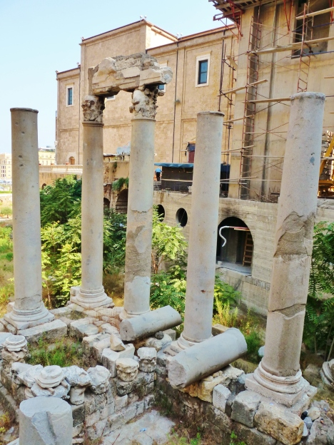 """pillars"" ""ruins"" ""downtown"" ""beirut"" ""lebanon"" ""roman"" ""phoenician"" ""ottoman"" ""crusader"" ""history"" ""heritage"" ""archaeology"" ""travel"" ""sights"""