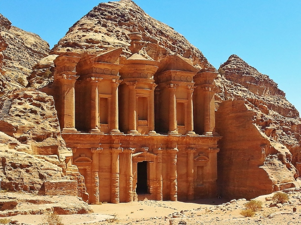 """Monastery"" ""petra sights"" ""Petra"" ""Wadi Musa"" ""Jordan"" ""desert"" ""ruins"" ""UNESCO"" ""heritage"" ""archaeology"" ""excavation"" ""wonders of the world"" ""desert"" ""rose red city"" ""sandstone"" ""ruins"" ""historical"" ""sights"" ""things to see jordan"" ""architecture"" ""view"" ""wanderlust"" ""photography"" """"world travel"" ""must-see sights"""