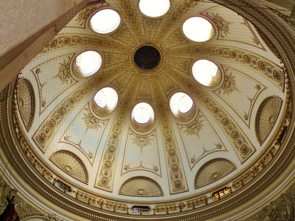 Dome Shaped Ceiling Inside Hofburg Palace Complex Hallway