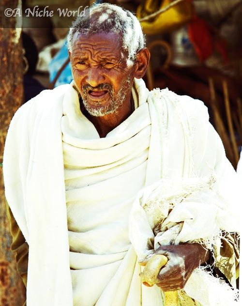Ethiopian man at market
