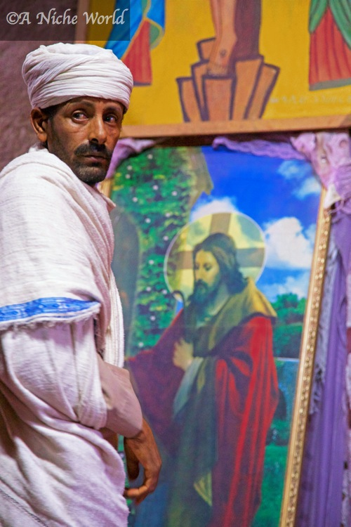 Original frescoes & paintings found at rock-hewn Lalibela churches