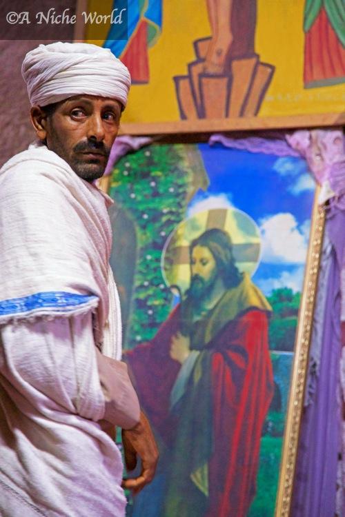 Original frescoes & paintings found at rock-hewn Lalibela churches