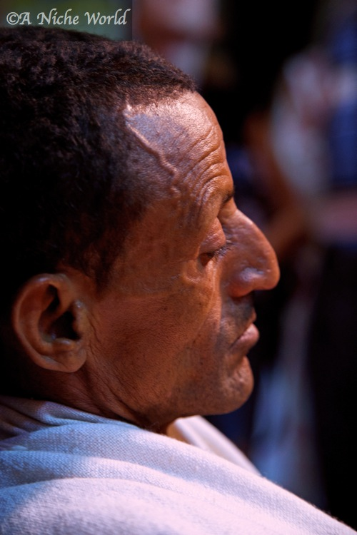 Deep in prayer at a church in North Ethiopia