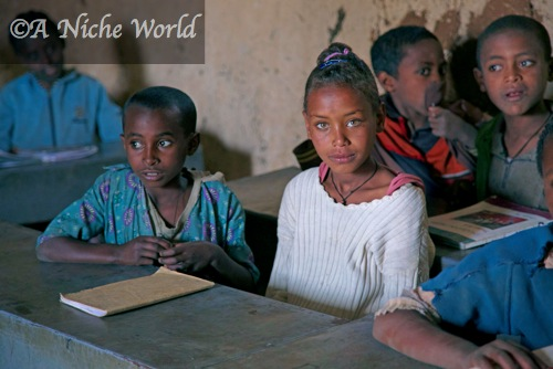 Schoolchildren in North Ethiopia