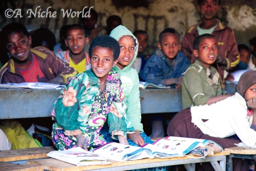 Visiting a remote village school in Northern Ethiopia