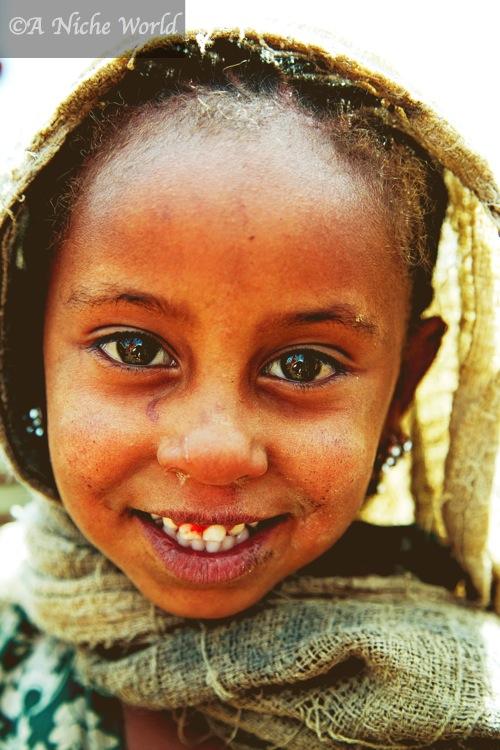 Beautiful little Ethiopian girl