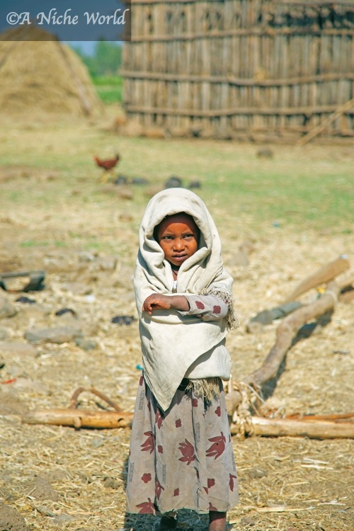 Ethiopian village girl