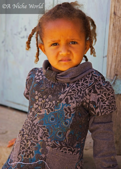 Little girl at market in Mek'ele, North Ethiopia