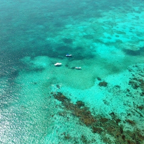 Belize Barrier Reef by helicopter