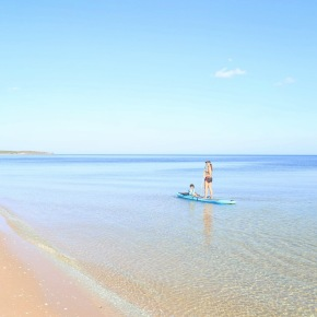 SUP Paddleboarding with baby in Mozambique